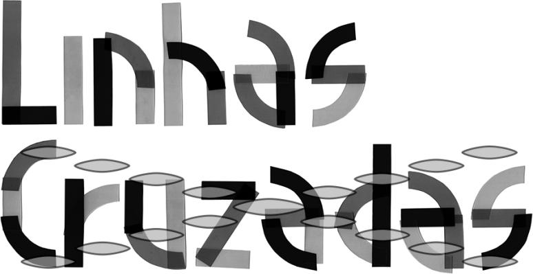 Logotipo Linhas Cruzadas - Escala Cinzas